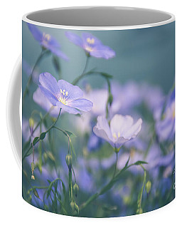 Dreamy Flax Flowers Coffee Mug by Cheryl Baxter