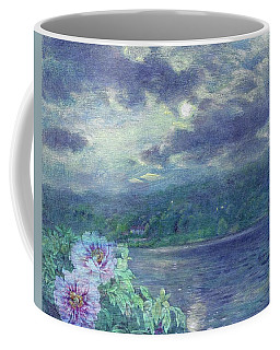 Dreamy Moon Over Peony Coffee Mug