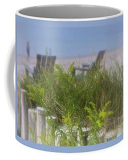 Dreamy Morning Walk On The Beach Coffee Mug