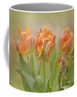 Dreamy Parrot Tulips Coffee Mug by Ann Bridges
