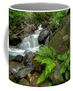 Coffee Mug featuring the photograph Dreamy Waterfall Cascades by Debra and Dave Vanderlaan