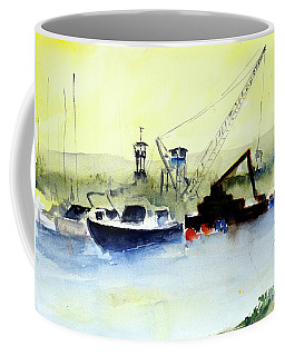 Dredging At Marin Yacht Club Coffee Mug