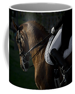Coffee Mug featuring the photograph Dressage D5284 by Wes and Dotty Weber