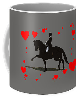 Dressage With Hearts Coffee Mug
