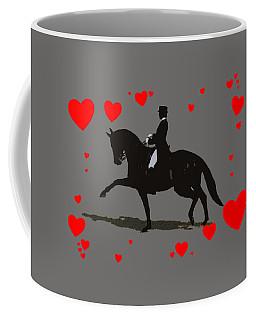Dressage With Hearts Coffee Mug by Patricia Barmatz