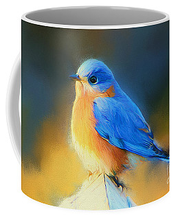 Dressed In Blue Coffee Mug by Tina  LeCour