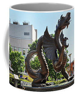 Coffee Mug featuring the photograph Drexel University Dragon - Philadelphia Pa by Bill Cannon