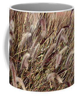 Dried Grasses In Burgundy And Toasted Wheat Coffee Mug