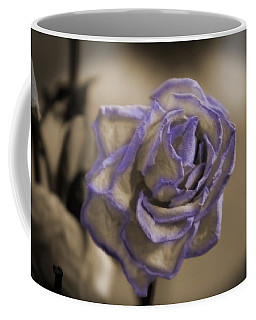 Dried Rose In Sienna And Ultra Violet Coffee Mug