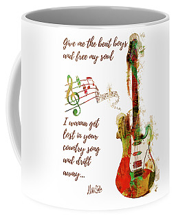Coffee Mug featuring the digital art Drift Away Country by Nikki Marie Smith