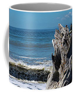 Driftwood In The Surf Coffee Mug