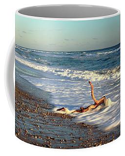 Driftwood In The Surf Coffee Mug