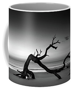 Driftwood Morning In Black And White Coffee Mug