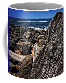 Driftwood Rocks Water Coffee Mug
