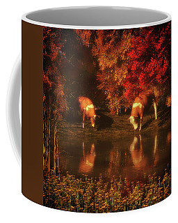 Drinking Cows In The Forest Coffee Mug