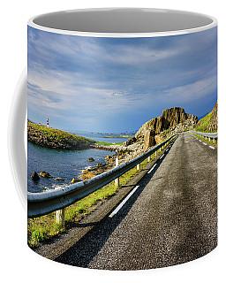 Driving Along The Norwegian Sea Coffee Mug