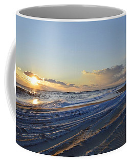 Driving In Snow Covered Sand  Coffee Mug