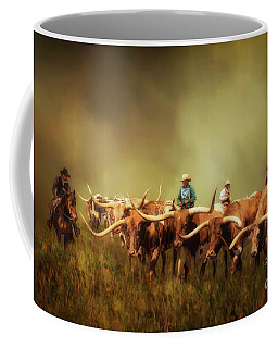 Driving The Herd Coffee Mug by Priscilla Burgers