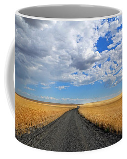 Driving Through The Wheat Fields Coffee Mug by Lynn Hopwood