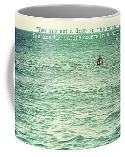 Drop In The Ocean Surfer Vintage Coffee Mug by Terry DeLuco