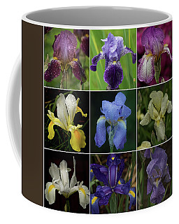 Drops Of Iris -- A Collage Coffee Mug