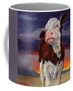 Coffee Mug featuring the painting Drought Breaker by Margaret Stockdale