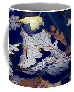 Coffee Mug featuring the photograph Drowning In Indigo by Doris Potter