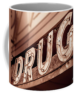 Drug Store Sign - Vintage Downtown Pharmacy Coffee Mug