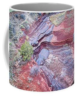 Dry Stream Canyon Areial View Coffee Mug
