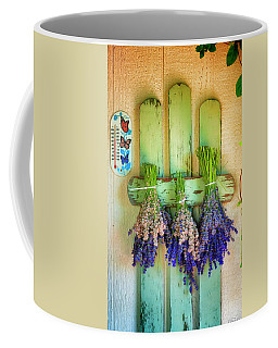 Drying Bunches Of Lavender Coffee Mug