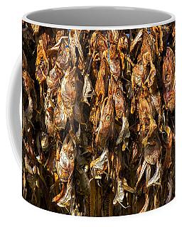 Drying Fish Heads - Iceland Coffee Mug