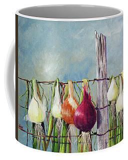 Drying Onions Coffee Mug