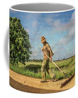 Drying Rice Coffee Mug