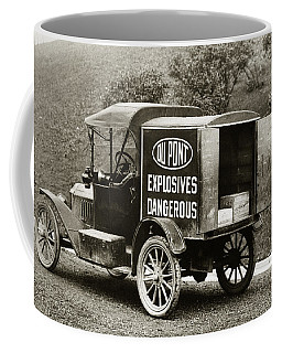 Du Pont Co. Explosives Truck Pennsylvania Coal Fields 1916 Coffee Mug