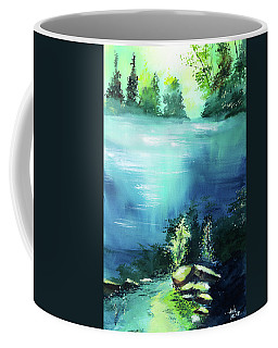 Coffee Mug featuring the painting Duality by Anil Nene