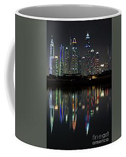 Dubai City Skyline Nighttime  Coffee Mug