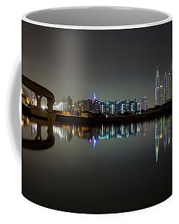 Dubai City Skyline Night Time Reflection Coffee Mug