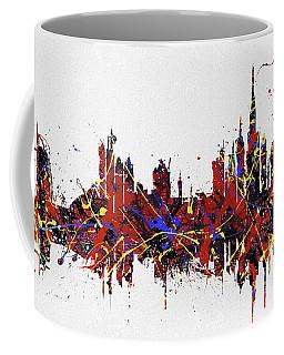 Coffee Mug featuring the painting Dubai Colorful Skyline by Dan Sproul