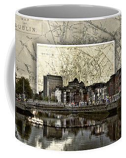 Dublin Skyline Mapped Coffee Mug
