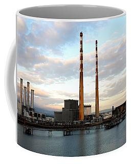 Dublin's Poolbeg Chimneys Coffee Mug by Lexa Harpell