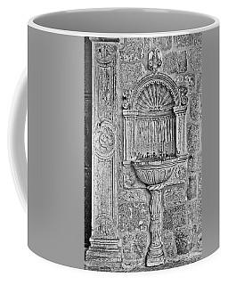 Dubrovnik Wall Art - Black And White Coffee Mug
