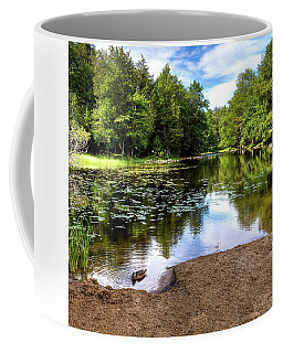 Coffee Mug featuring the photograph Duck At Covewood by David Patterson
