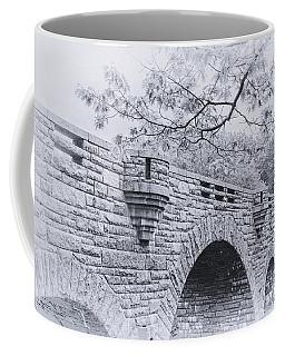 Duck Brook Bridge In Black And White Coffee Mug