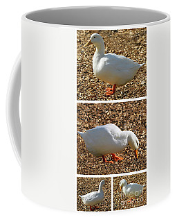 Coffee Mug featuring the mixed media Duck Collage Mixed Media A51517 by Mas Art Studio