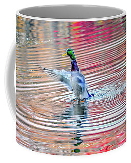 Duck On An Autumn Pond In The Chesapeake Bay Maryland Coffee Mug