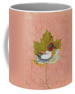 Duck On Pond Coffee Mug