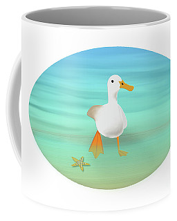 Duck Paddling At The Seaside Coffee Mug