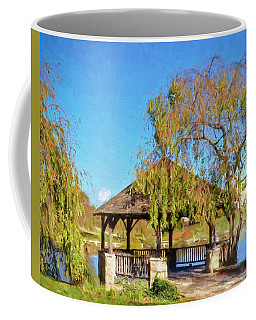 Duck Pond Gazebo At Virginia Tech Coffee Mug by Kerri Farley