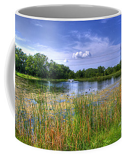 Duck Pond Coffee Mug by Ricky Dean
