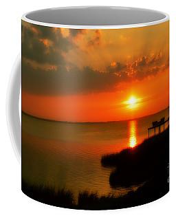 Duck Sunset Outer Banks North Carolina Coffee Mug